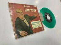 """Johnny Hallyday Spanisch EP 7 """" Retiens La Nuit +3 Green Vinyl Limitierte 1962"""