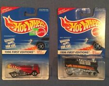 NIP Lot of 2 Hot Wheels 1996 First Editions Rail Rodder Dogfighter 5 & 10 New