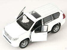 BLITZ VERSAND Toyota Land Cruiser Prado weiss Welly Modell Auto 1:34 NEU & OVP