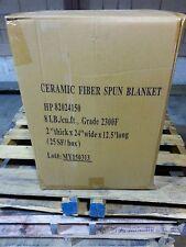 "Ceramic Fiber Blanket,Kaowool 2""thick x24""wide x 12.5' long 2300F 8# Density-NEW"