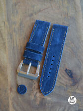Cinturino cuoio e jeans 26mm mtstraps Handmade Italy Leather Watch Strap Band 26