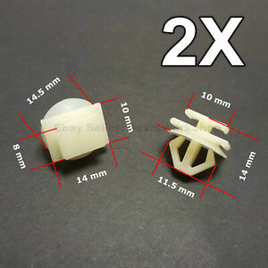 2X Trim Clips for Grille trims & Door Side Mouldings, Bumpers for Peugeot