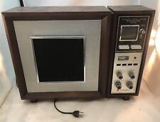 Mid-Century Panasonic Model RE-787 Stereo AM/FM Wood Radio with Motorized Tuner