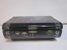 VINTAGE JAPANESE BLACK LACQUER JEWELRY BOX PROJECT BOX NEEDS TLC