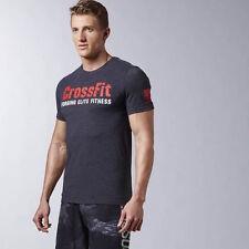 REEBOK CROSSFIT Men's Black Forging Elite Fitness Tee AJ3468, Sz XL NWT