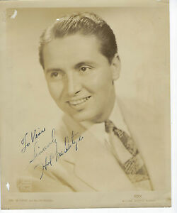 Jazz bandleader musician Hal McIntyre autographed 8x10 photo AUTHENTIC
