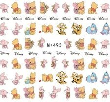 Nail Art Stickers Water Decals Transfers Winnie The Pooh Eeyore Tigger (M+493)