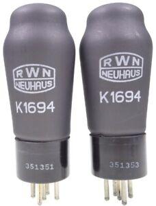 2x K1694 = REN904 = E428 RWN Neuhaus Matched pair Röhre Triode tube NOS NEW NEU