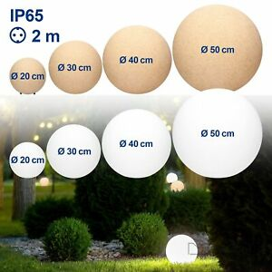 Kugelleuchte LED Gartenleuchte Gartenlampe Gartenkugel Außenleuchte IP65 E27