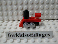 Lego Minifigure Red Toy Train - Christmas Stocking Stuffer Gift Miniature