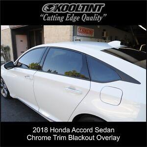 2018/2021 Honda Accord Sedan Chrome Trim blackout overlay