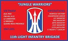 11TH LIGHT INFANTRY BRIGADE 3'X5'  2PL POLYESTER 1-SIDED INDOOR 4 GROMMET FLAG