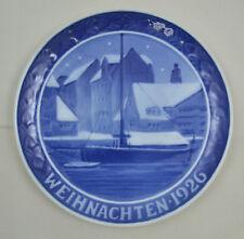 Royal COPENHAGEN-PIATTO DI NATALE 1926-Christmas Plate 1926 -