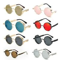 Unisex Vintage Polarized Sunglasses Steampunk Round Retro Glasses Eyewear UV400