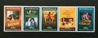 1995 AUSTRALIA SE-TENANT STRIP 'CENTENARY of CINEMA' 5 x 45 cent MNH STAMPS