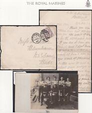 # 1894 PORTSMOUTH HMS CRESCENT LETTER Wm KAY + 1911 PPC ROYAL MARINES MALTA > UK