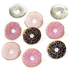 DOUGHNUT BRADS ** FREE SHIPPING OFFER ** 8 PCS * EYELET OUTLET FOOD