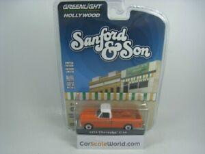 CHEVROLET C-10 1971 SANFORD AND SON 1/64 GREENLIGHT (ORANGE)