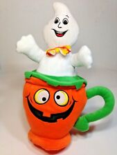 Halloween Ghost in Pumpkin Teacup Plush National Entertainment Network 14""