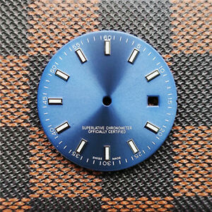 Blue-Green luminous Log Watch Dial 316 Stainless Steel 31mm Dial For 2836 8215