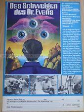 SOVIET SCI-FI 1976 - THE SILENCE OF DR EVANS * RARE EAST GERMAN ART POSTER!