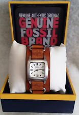 *nEW oLD sTOCK* Women FOSSIL JR-8317 Quartz Watch/30m WR/DATE/Thick Leather Band