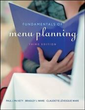 Fundamentals of Menu Planning by Claudette Lévesque Ware, Bradley J. Ware and Pa