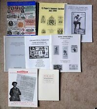 7 AUCTION CATALOGS ON PAPER, EPHEMERA, MONEY, CIGARETTE CARDS, TOBACCO