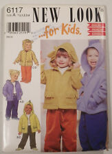 NL-6117 Coat Pants Sewing Pattern New Look Size ½-1-2-3-4 Uncut