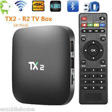 TX2 - R2 Smart Android 6.0 TV Box 2.4GHz WiFi Quad Core 2GB/16GB 4K 3D UK PLUG