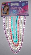 NWT GLAMOUR GIRLS FASHION NECKLACES NECK BEADS SET OF 4 BLUE PINK PURPLE WHITE