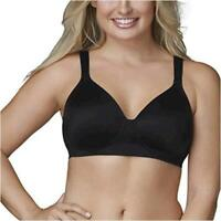 Vanity Fair Women's Beyond Comfort Seamless Back, Midnight Black, Size 44DD BKsR