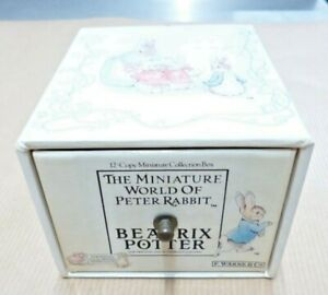 The Miniature World of Peter Rabbit By Beatrix Potter - 12 Book Set - Warne & Co