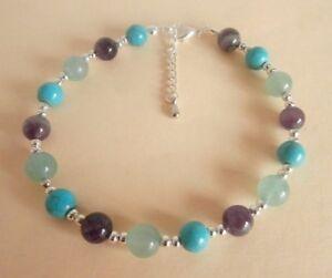 Gemstone Crystal Healing Weight Loss Motivation Support Anklet Ankle Bracelet