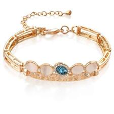 Women's Love Gold Plated Crystal Chain Tennis Bracelet Bangle Trendy Jewelry