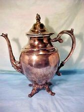 Wm Rogers Silver Colored Tea Coffee Pot WINGED BIRD OR ANGEL & STAR BY Wm Rogers
