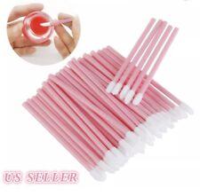 50 PINK Disposable Lip Brush set gloss lipstick wands applicator makeup tool