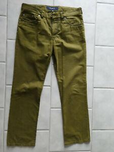 Gardeur Nevio Hose - Farbe oliv grün - Größe W35 L30 - regular fit Stretch