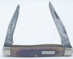 """Vintage """"OLD TIMER"""" #770T 2 Blade """"Improved Muskrat"""" Pocket Knife"""