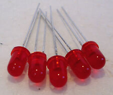 2K550 - 5 x 5mm LED 12volts Red LED's - Light Emitting Diodes - 1st Class Post