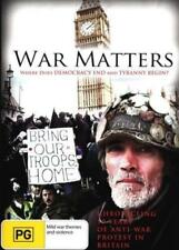 "DOCUMENTARY - War Political and Terrorism Themes "" WAR MATTERS ( DVD ) RARE !!"