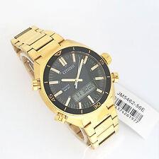 Citizen Quartz Analog Digital Gold tone Watch JM5462-56E 50m W/R New / Inst book
