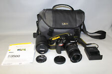 Nikon D3500 DSLR Camera Kit w/ 2 Lenses 18-55mm 70-300mm + Bag