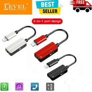 2in1 3.5mm Jack AUX +8Pin Headphone Splitter Adapter for iPhone 12 11 XS UK