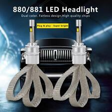 Dual Color 880 881 11000LM LED Light Headlight Kit Vehicle Car Replacement Bulbs