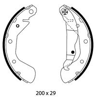 Mintex Rear Brake Shoe Set MFR594  - BRAND NEW - GENUINE - 5 YEAR WARRANTY