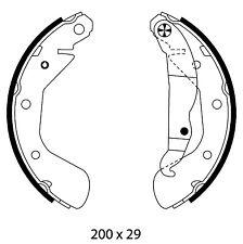 Mintex Rear Brake Shoe Set MFR594  - BRAND NEW - GENUINE - 5 YEAR WARRANTY