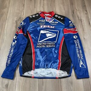 Vintage Pearl Izumi USPS Postal Trek Yahoo Lance Armstrong Cycling Jersey XL NWT