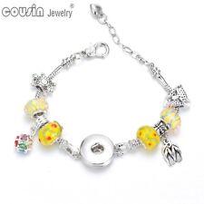 12pcs Multi Music Symbol 18mm Snap Button Charms for DIY Snaps Bracelet Jewelry Kz0176