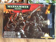 Chaos Space Marines Warhammer 40,000 Games Workshop Model & White Dwarf Magazine